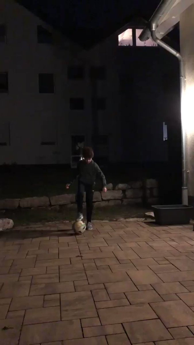 My son was impressed by ⁦@LivCookefs⁩ Videos where she scores into a basketball basket. So he used the second lock down to practice Freestyling. It's not a basketball basket, but a great start Anyway💪 like or rt the video to keep him motivates and away from video games😂⚽️