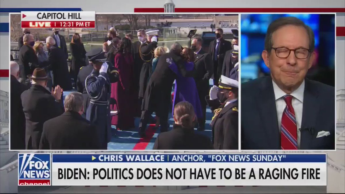 "Fox News's Chris Wallace: ""I thought it was a great speech ... I thought this was the best inaugural address I have ever heard."""