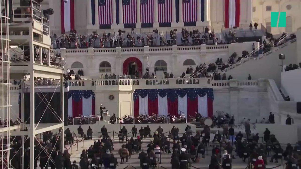 #InaugurationDay Así fue la participación de Jennifer López en el acto de toma de posesión de #JoeBiden y #KamalaHarris, en el #Capitolio.