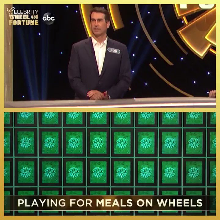 Rob Riggle is putting in the work (and the fun!) tomorrow during #CelebrityWheelOfFortune! Watch him compete alongside Jeannie Mai and Joe Tessitore for a chance to win $1M for Meals on Wheels.