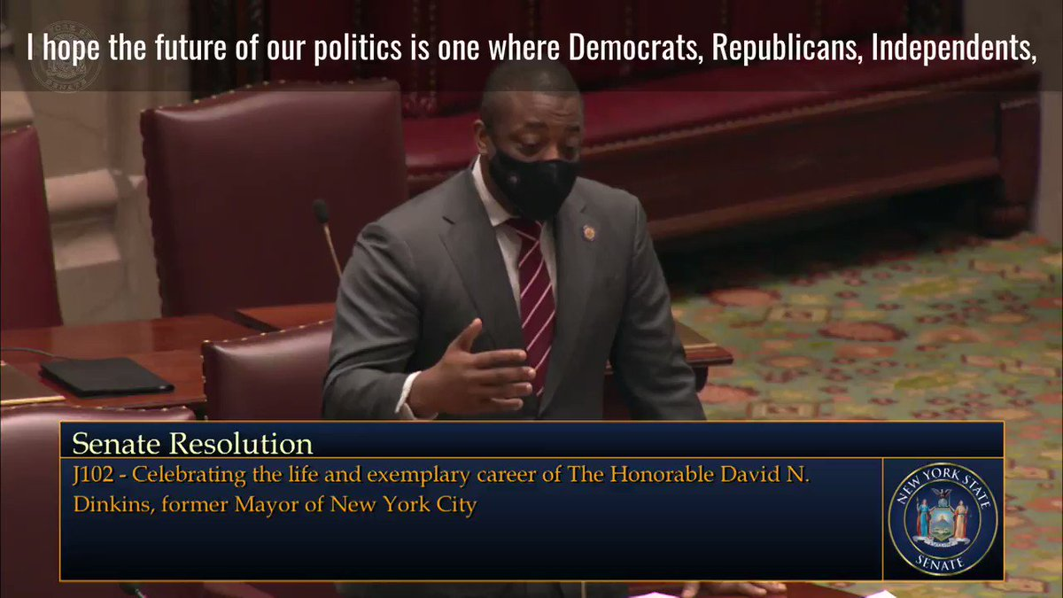 No better time to honor the legacy of NYC's only Black mayor David Dinkins on the Senate floor than today, while the first Black vice president was being sworn in simultaneously.   I'm proud to have sponsored this resolution. https://t.co/NCBXo5Zjs4
