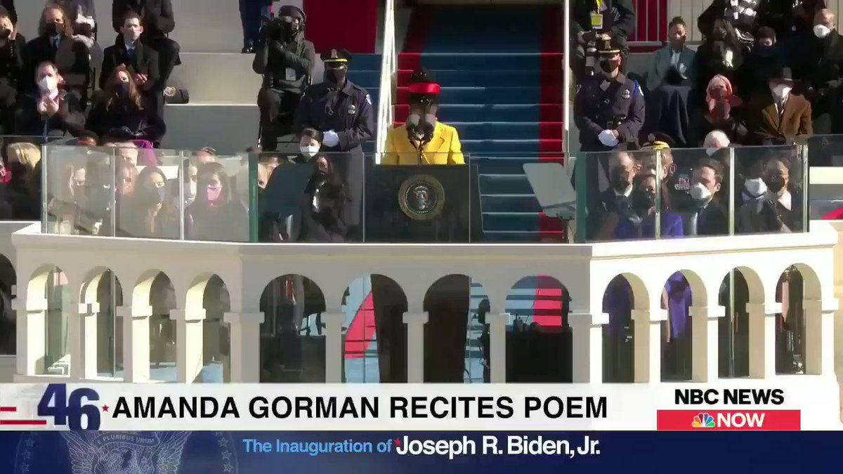 """Los Angeles native poet @TheAmandaGorman lit social media on fire with her impassioned delivery of """"The Hill We Climb"""" #InaugurationDay  #DonaldTrump  #Inauguration2021 #Inauguration #lastdayofTrump #TrumpsLastDay #TraitorTrump #BidenHarrisInauguration #ByeByeTrump #ByeDon"""