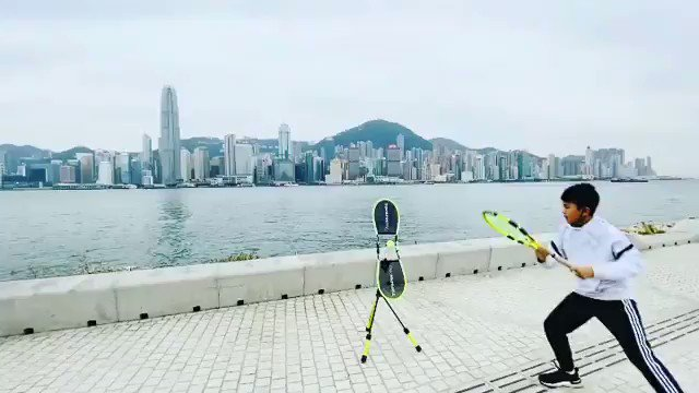 No words needed. Kevc - thank you for sharing some incredible scenes with the TopspinPro!  Reposting @kevc_sportsTopspin practice facing the Victoria Harbour  #tennis #TopspinPro