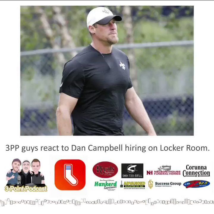 Dan Campbell is officially the #Lions next head coach. When the news broke, the guys hopped on @lockerroomapp and gave their initial thoughts. Here's a clip, full chat will be on the next #podcast. Take a listen and hit us up w/your thoughts! #OnePride #NFL #NFCNorth #Detroit 🏈