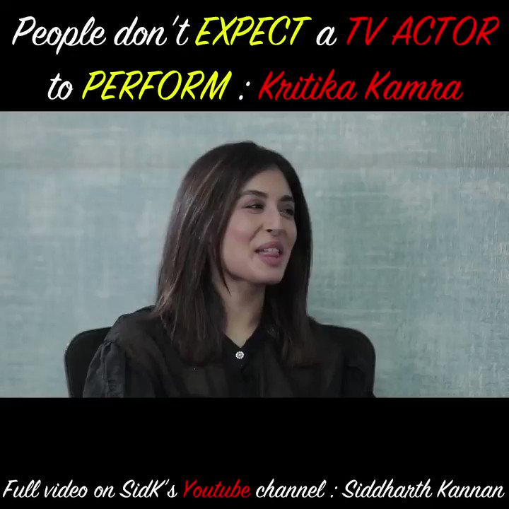 People don't EXPECT a TV ACTOR to PERFORM! :@Kritika_Kamra   Catch the full video on my @YouTubeIndia channel:   Don't forget to like, share & sub!!  #Sidk #SiddharthKannan #KritikaKamra #TandavOnPrime #tandavwebseries #bollywood
