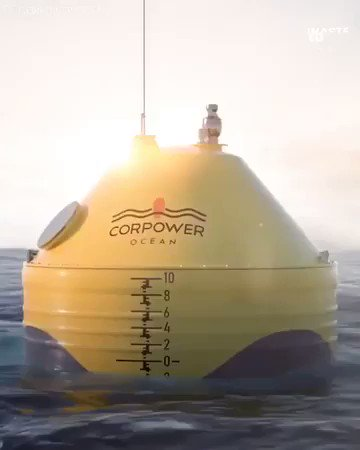 This bobbing bouy can power hundreds of homes using the power of the ocean.  We have so many solutions. Let's stop the delays and implement them. #ActOnClimate   #Climate #Energy #GreenNewDeal #JustRecovery #NoPlanetB
