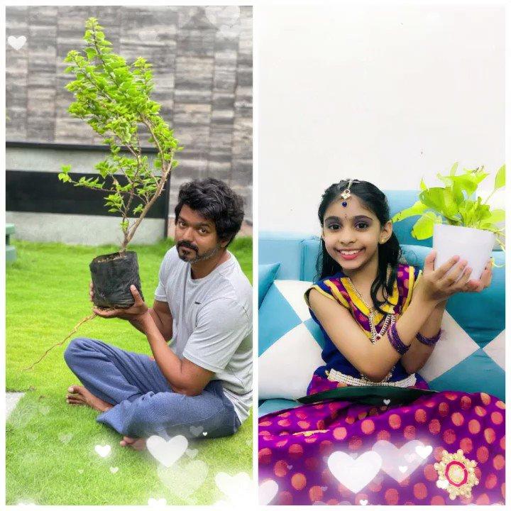 @Jagadishbliss @actorvijay @urstrulyMahesh #தளபதி 🤩😍 குட்டி ரசிகையின் dedication #greenindiachallenge  P.S -> Google for Sia Vijai 🧿