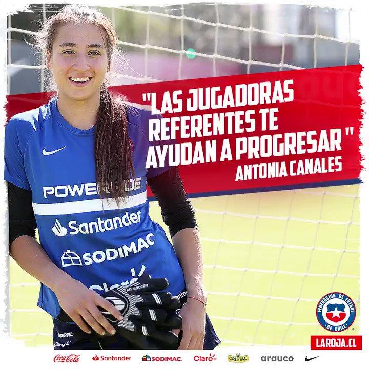 """🇨🇱😍 Nuestra portera Antonia Canales destaca el rol de las futbolistas más experimentadas, de cara al repechaje con Camerún.  🎥🎙 """"Me motiva para seguir entrenando más fuerte""""  #Chile #LaRojaFemenina #VamosLaRoja"""