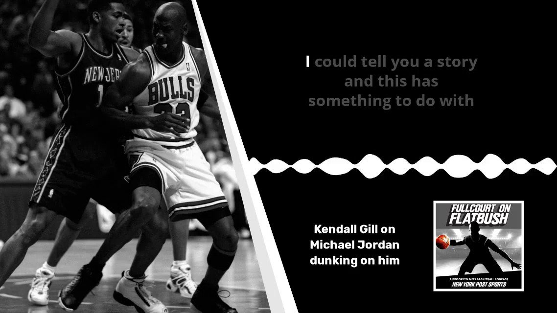 """Fullcourt on Flatbush Podcast: @robinlundberg & @Kerry_Kittles30 chat with former Nets SG/SF @KendallG13.   Gill tells the story of Jordan dunking on him after he dunked on him earlier: """"Payback is a bitch, huh?""""   Apple: Spotify:"""