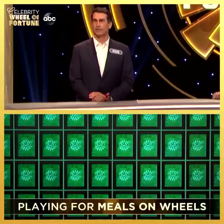"Replying to @RobRiggle: The Holey Moley team is back together this week playing on  ""Celebrity Wheel of Fortune""! @ABCNetwork"