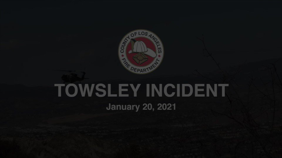 Image posted in Tweet made by L.A. County Fire Department on January 20, 2021, 11:27 pm UTC