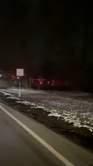 NEW - Military helicopter engulfed in flames after a crash sparks field fire in Rochester, NY. Emergency crews are on the scene.