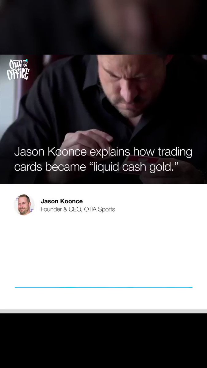 This week on #OutOfOffice founder/CEO of @OtiaSports Jason Koonce joins @richkleiman & #TheETCs co-host @bansky to discuss why trading cards have become a serious investment, his career in sports memorabilia, & cornering the market early.   🎙→: