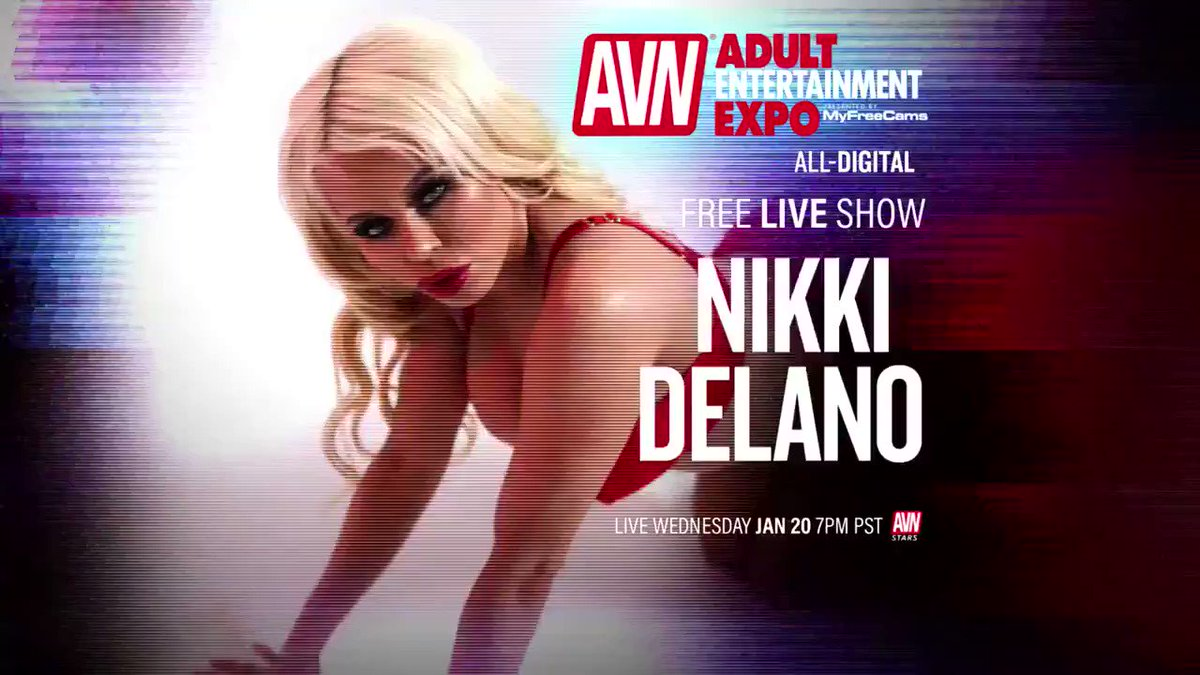Are you making @NikkiDelano wait? STOP THAT! Get to the Virtual #AVNShow right now! stars.avn.com/nikkidelano
