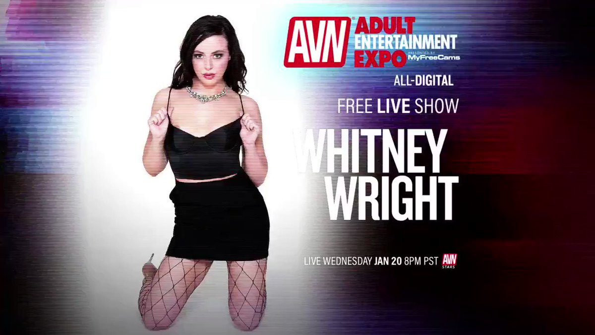 The virtual #AVNShow is still going on and we are hanging with @whitneywrightx right now. Be sure to join us. stars.avn.com/whitneywright
