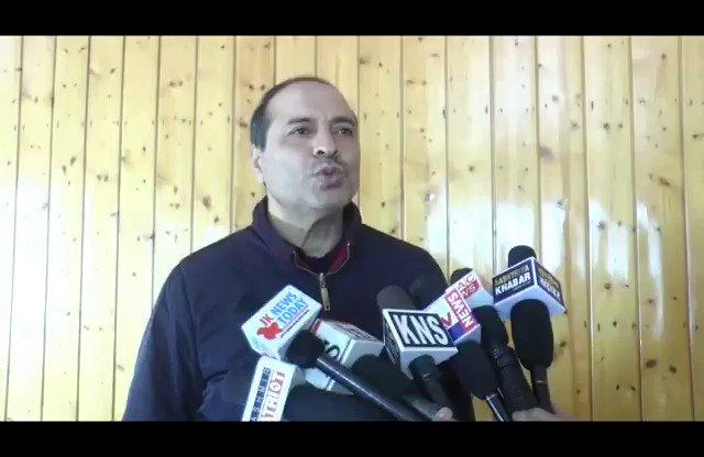 Watch* @KNSKashmir Srinagar APNI Party leader Ashraf Mir slams PAGD.. #KNS correspondent