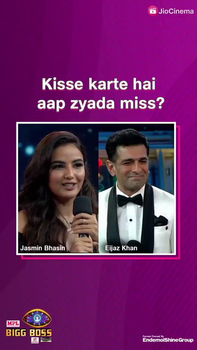 🔁 RT for #JasminBhasin, ❤️ LIKE for #EijazKhan? Kisse karte hai aap zyada miss? 😢  #biggboss14 #jasmin #eijaz #biggboss #salmanKhan #BB14 #BiggBoss2020 #alygoni