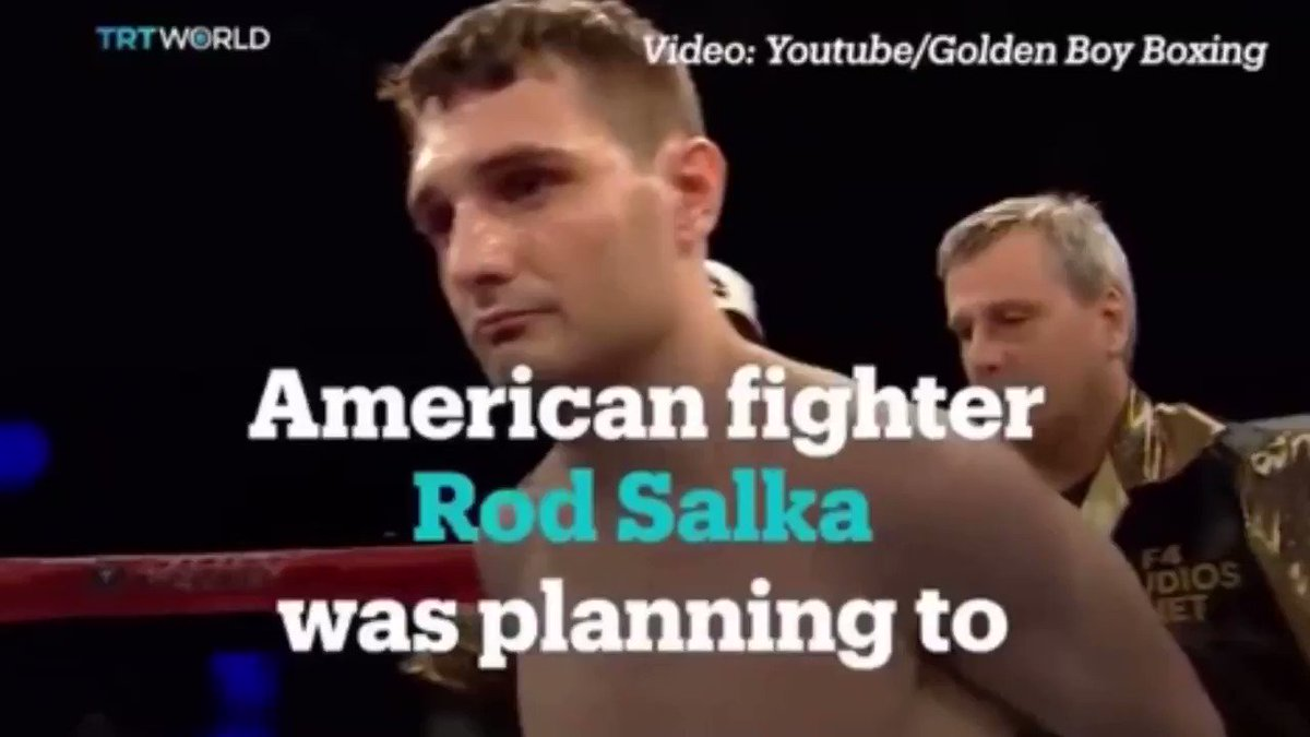 """#TBT 🕰 When Rod Salka wore """"America First"""" boxing shorts displaying a brick wall vs Mexican opponent Francisco Vargas  The move backfired however, as Vargas handed Salka a beating and forced his opponent to quit on his stool before the 7th  🎥 @trtworld   #Boxing"""
