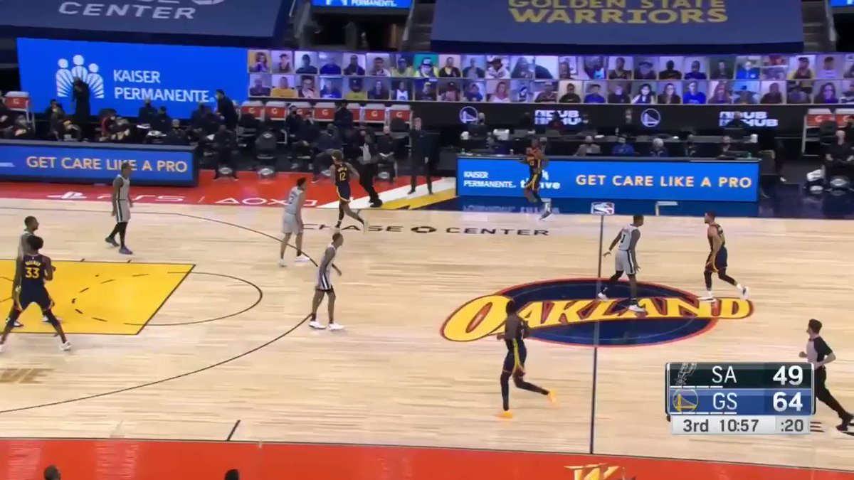 Warriors have run so much split action that teams virtually know when it's coming. I love how they changed it up on this possession by adding something as simple as a dribble hand-off.