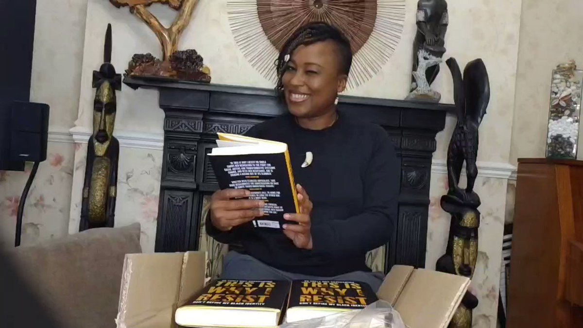 🎉💃🏿It's PUBLICATION day!✊🏾🙏🏾 #ThisIsWhyIResist is out! Woohoo! Available now - including at: Amazon  Waterstones  Hive