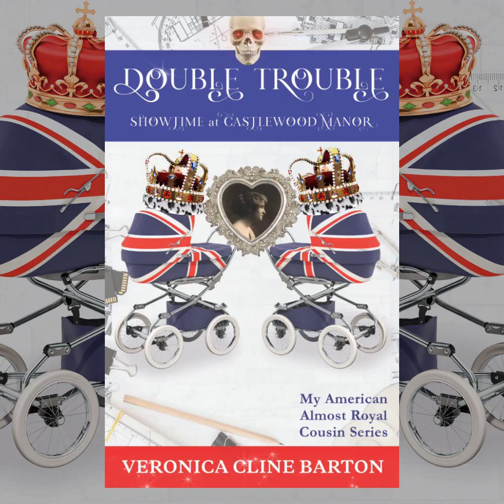 """💖Double Trouble: Showtime at Castlewood Manor👑  5⭐️""""Highly recommended for lovers of cosy #mystery #fun and #regal splendour.""""  Life at the Hall is about to change...💖👑🕵️♀️🍸#CozyMystery #Royals #LuxuryStyle #Romance #BookLovers #WritersWhoRead #TBR #BooksToRead #ThursdayVibes"""