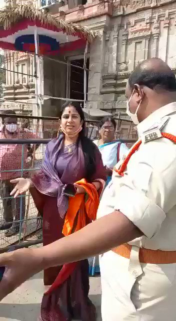 Today, Mangalagiri police arrested me along with few others who went for darshan of Lakshmi narasimha swamy. I seriously condemn the AP police over action. @BJP4India @RSSorg @VHPDigital @BJYM @BJP4Andhra @BJP4Telangana @BJYM4Andhra https://t.co/zHWq4hv0zN