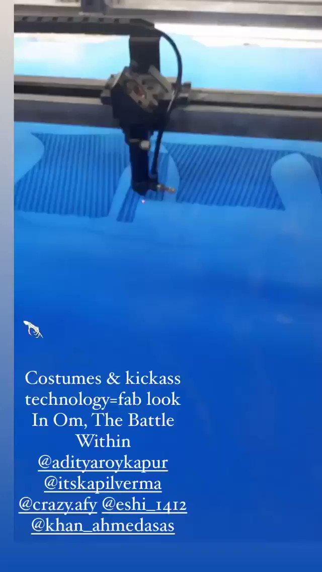 Costumes & kickass technology = fab look in Om, The Battle Within 🔥💥 #AdityaRoyKapur #OmTheBattleWithin