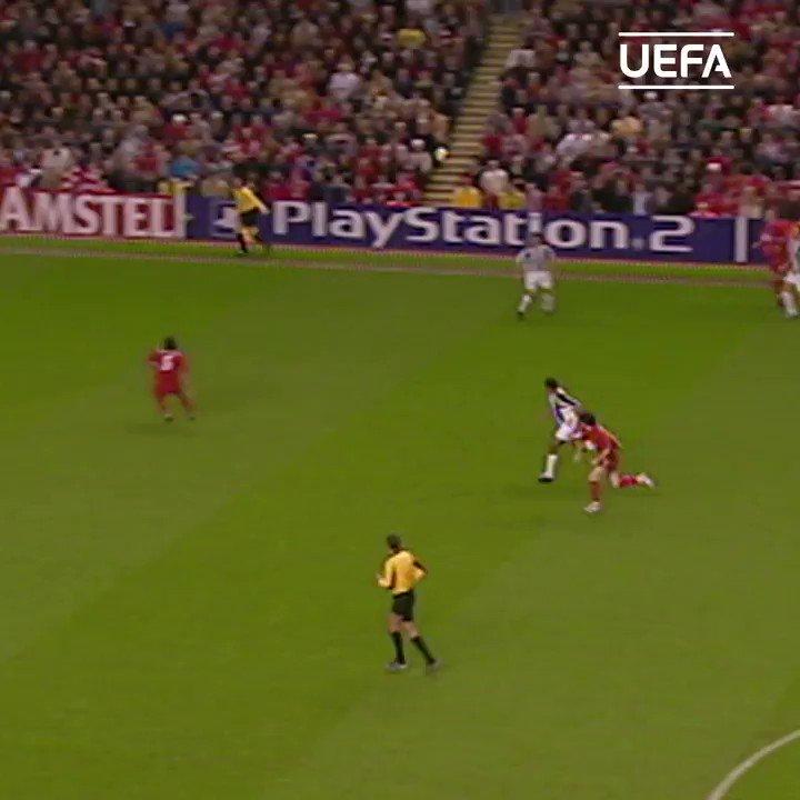 🔴 When Luis García beat Buffon in style!🚀  #UCL | @LFC | @luchogarcia14