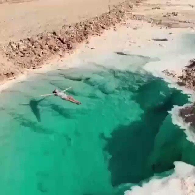 Natural pool in Egypt Would you swim here? 🇪🇬  #ThursdayFeels #ThursdayThoughts #explore #Egypt #deiz #deiztravel #deiztravelandtour #deizglobal #deizglobalservices