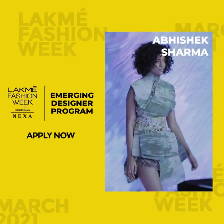 #AbhishekSharma's forte lies in the finer details of making textured fabrics, drapes, and incredible embroideries, making his designs exquisite & unique.   Apply for the #EmergingDesignerProgram. Visit   @nexaexperience @ILoveLakme #LFW2021
