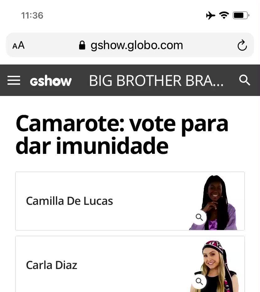 Bora votar família de Lucas? Tô aqui a todo vapor! #TeamCamilla #BBB21   📲 Link: