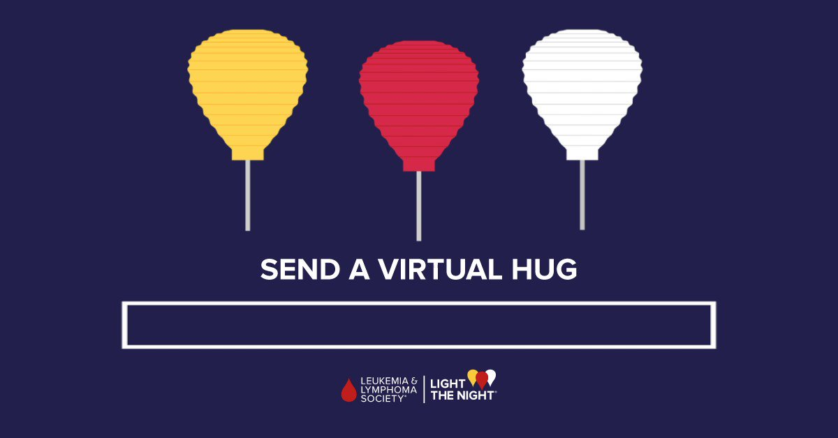 Today on #NationalHuggingDay, so many of us long to hug those we have been isolated from during the pandemic. Until we can be physically together, retweet this virtual hug and tag your loved ones to let them know you are thinking of them today! 🤗👇 #LightTheNight