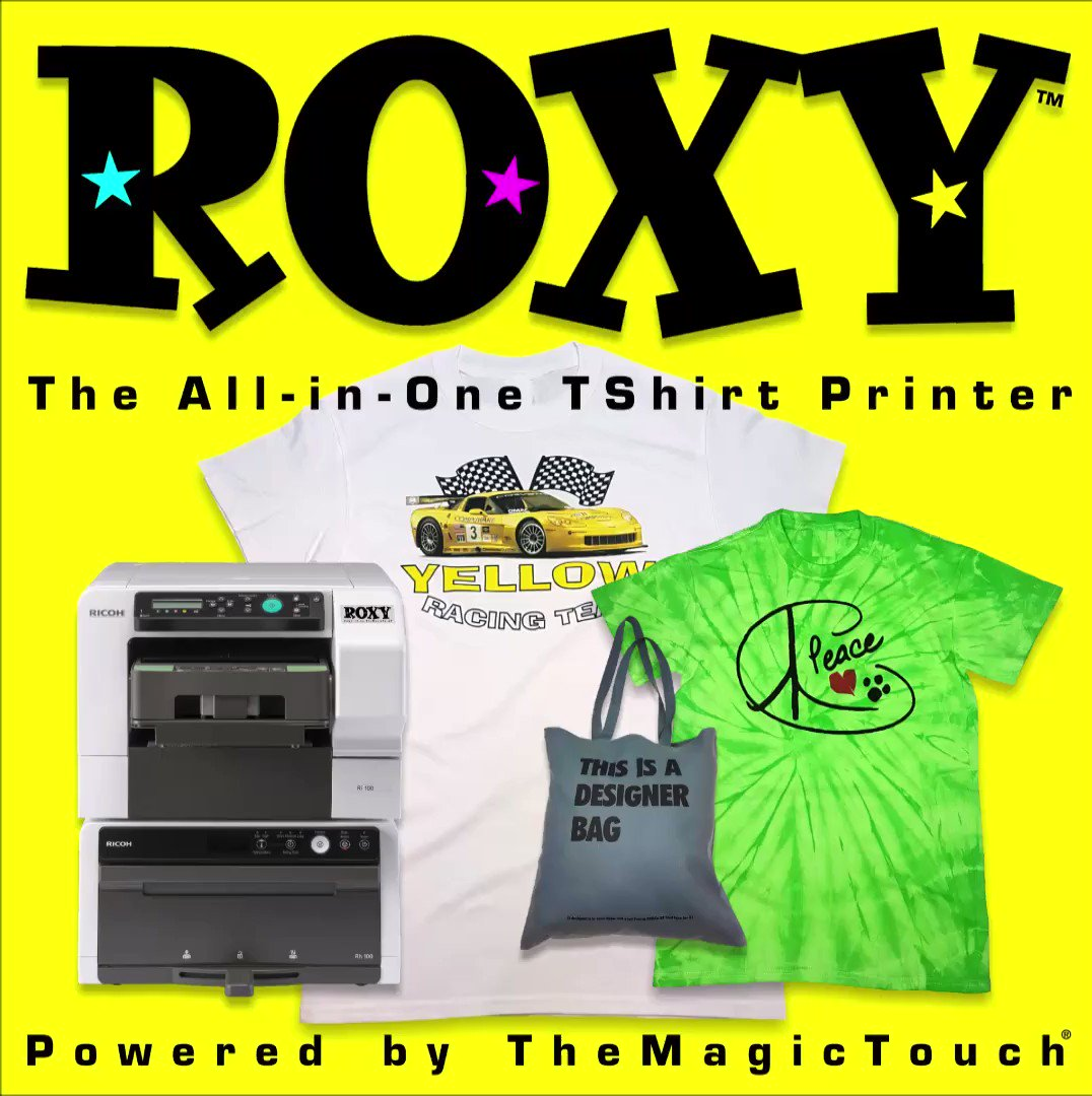 ROXY®, the world's first All-in-One Tshirt printer, powered by TheMagicTouch... Easy to use table top printer...For more info contact your local #TheMagicTouch distributor...  #ROXY #Imagetransfer #Tshirtprinting #Personalisation #Startbusinessfromhome