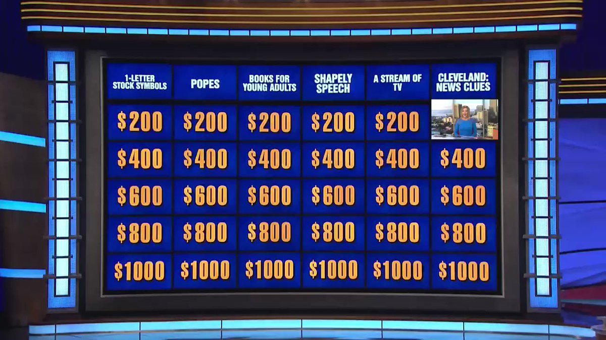 @Jeopardy Tonight at 7:30!! **THESE @cleveland19news anchors will be giving #CLE clues *** WHO IS @cfryenewsguy and me! Hope you'll tune in! #Jeopardy