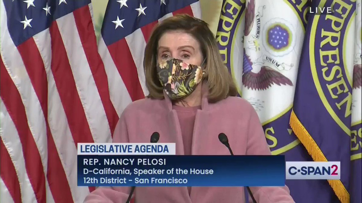 """There's no question there were members in this body who gave aid & comfort to those, with the idea that they were embracing a lie, a lie perpetrated by POTUS, that the election did not have legitimacy"" -- Pelosi on if she has evidence that GOP members gave insurrectionists tours"