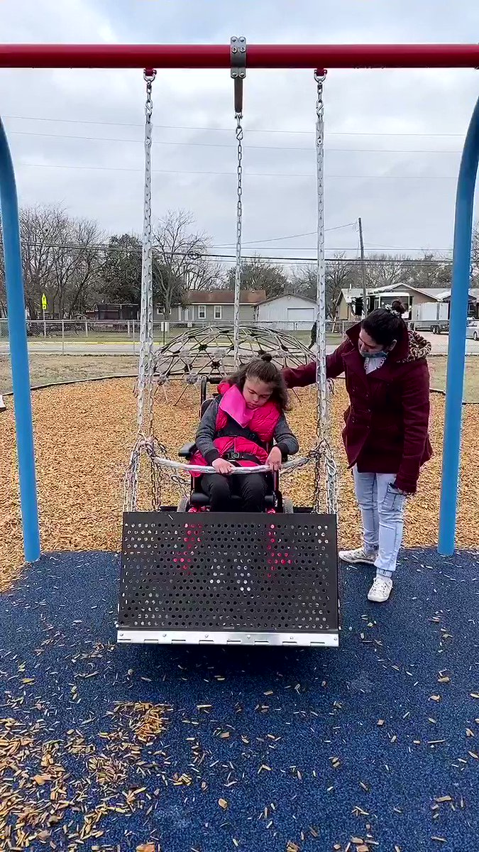 She decided today she wanted the swing. #allmeansall #foundationallearning #differentnotless #lovemylisd