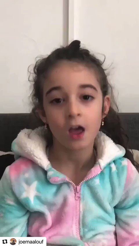 #Repost @JoeMaalouf  ・・・ Anna-Maria Daoud, a 7 years old Lebanese kid living in Cyprus, woke up today very upset after watching the news and asked her parents to film this video.