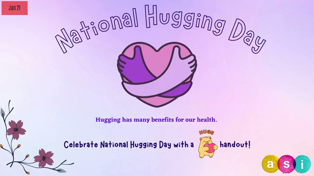 The simplest and most effective way of expressing affection is celebrated on National Hugging Day on Jan 21. #NationalHuggingDay  Celebrate with this free handout!   Download:   #ArtSphereInc #donate #loveartsphereinc #nonprofit #hugs