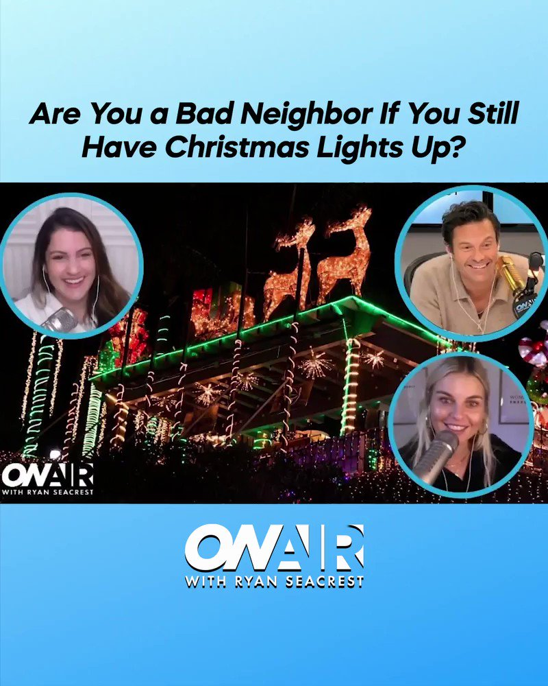 Dear @Sisanie's neighbors, we're sorry 😂  Would you be annoyed if your neighbor's Christmas lights were STILL up?! Watch back the on-air moment and comment below: