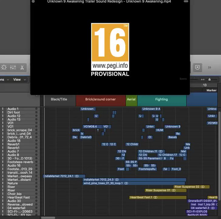Trailer Sound Re-design: Unknown 9 Awakening  My #foley and #sounddesign on the trailer for #unknown9. Note: I am not associated with Reflector Entertainment in any way, this re-design is for my own portfolio purposes.   #gameaudio #gametrailer #Audio #gamedev #3Danimation