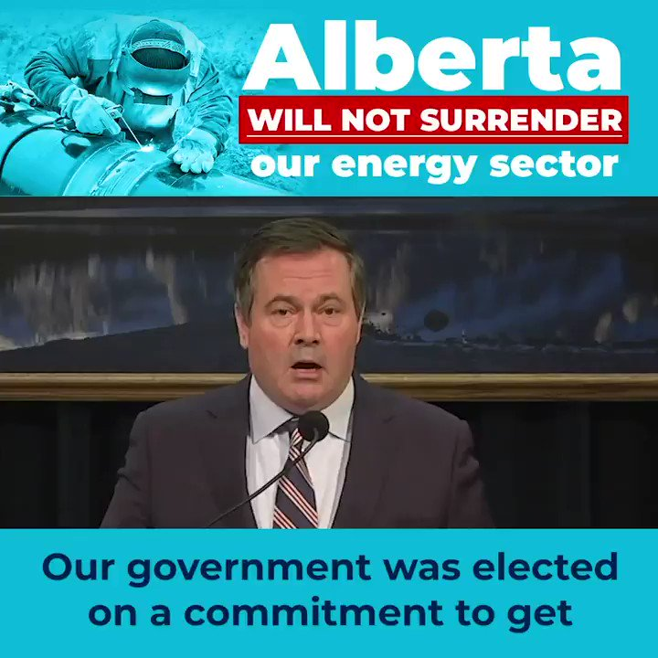 There are some who wish we would just give up our fight for pipelines, for oil & gas jobs, and for our broader energy sector. Alberta will not surrender to those who want to landlock our energy. We will defend this provinces vital economic interests, as we were elected to do.