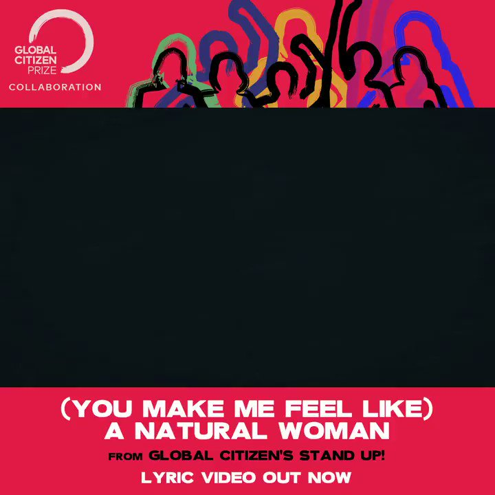 """the lyric video for """"(you make me feel like) a natural woman"""" with @torikelly from @GlblCtzn's #STANDUP album is out now 🥰🎶"""