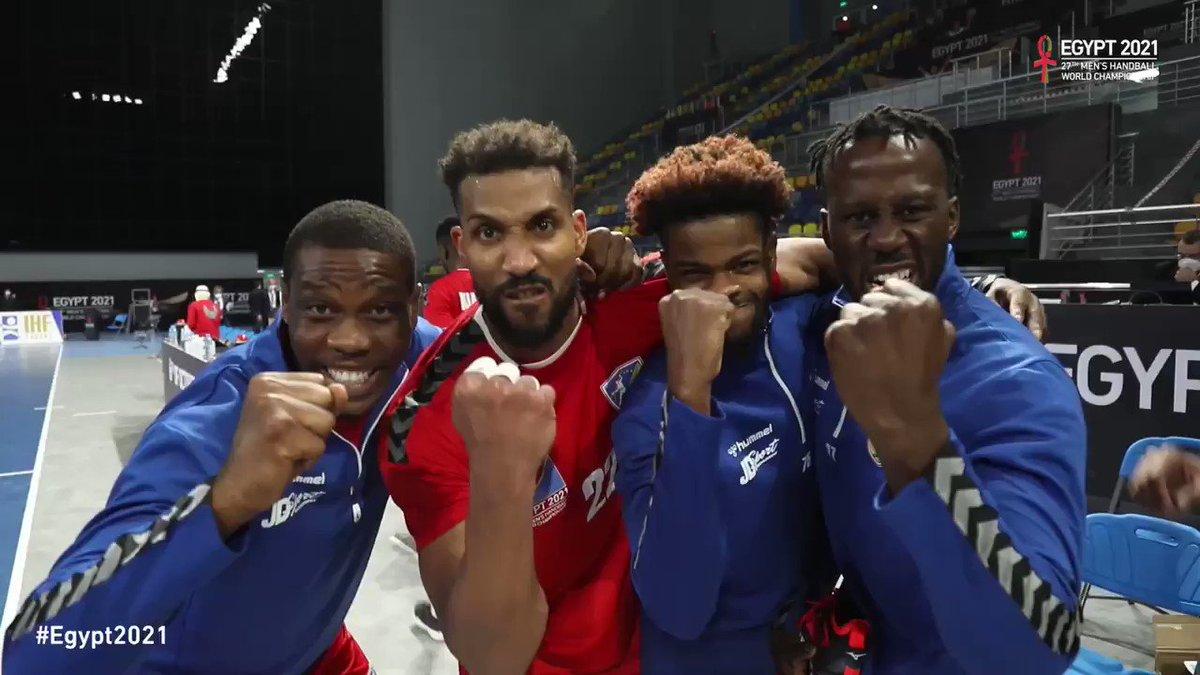 Victoire de la RDC face à l'Angola, une première historique en Championnat du Monde pour la sélection 🇨🇩 !  Prochain match samedi 23 janvier (18h) 🇨🇩 🆚 🇹🇳  #GODRCongo #Egypt2021