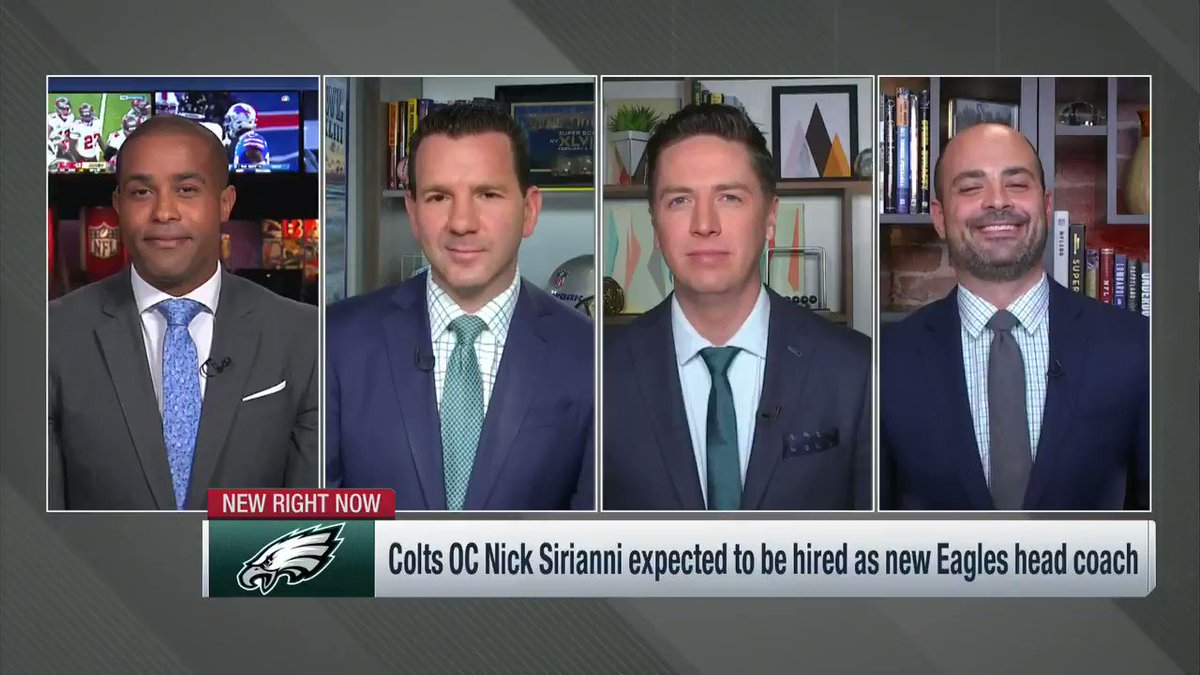 Two years ago, Nick Sirianni turned down an interview with the #Browns because he wanted to focus on the #Colts' playoff game.   He didn't take an interview until this week with the #Eagles ... and now is poised to bring his high-energy style to Philadelphia.   @nflnetwork