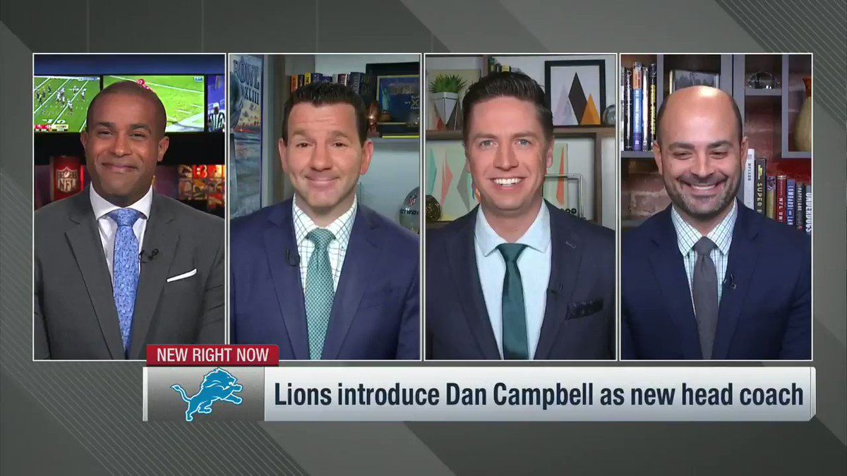 New #Lions coach Dan Campbell will provide quotes and memes for days, but his introductory presser was the authentic article -- and it's part of why the team thinks he's perfect for Detroit. @nflnetwork