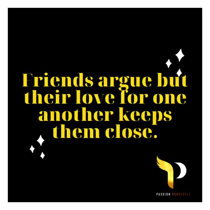 Good #friends are able to have serious disagreements and maybe even argue about some things but their love for one another outweighs it all. Don't lose a great friendship over one or two arguments. Life is short and it's not worth losing someone who genuinely cares about you. 🤗