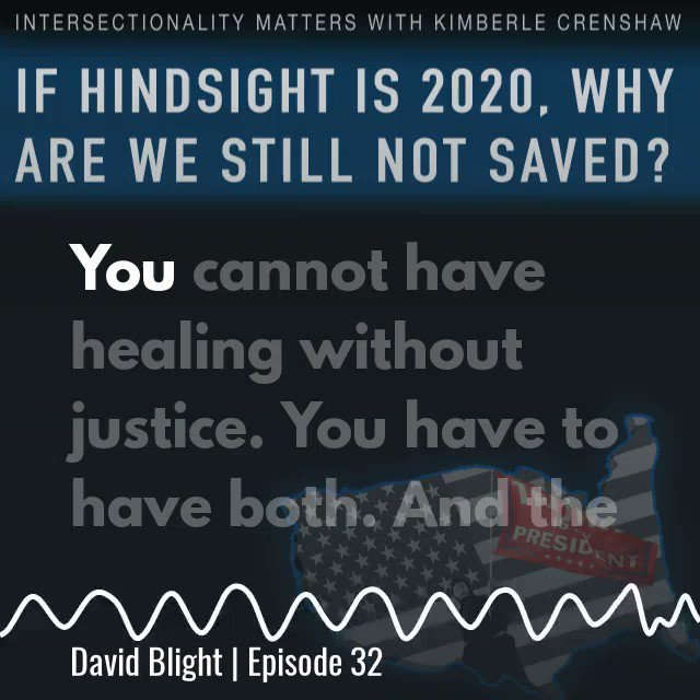 """""""You cannot have healing without justice. You have to have both. And the great tragedy of Civil War memory was that healing and justice never came in balance."""" @davidwblight1   Full episode:"""