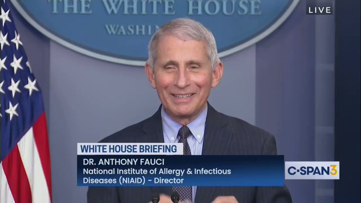 """""""One of the new things in this administration is if you don't know the answer, don't guess. Just say you don't know the answer"""" -- Fauci"""