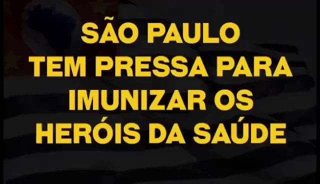 Muita emoção ao longo de toda a semana com o início da vacinação em diferentes municípios do Estado de São Paulo. A chegada da vacina representa a esperança de milhões de brasileiros na luta contra a Covid-19. #VacinaJá
