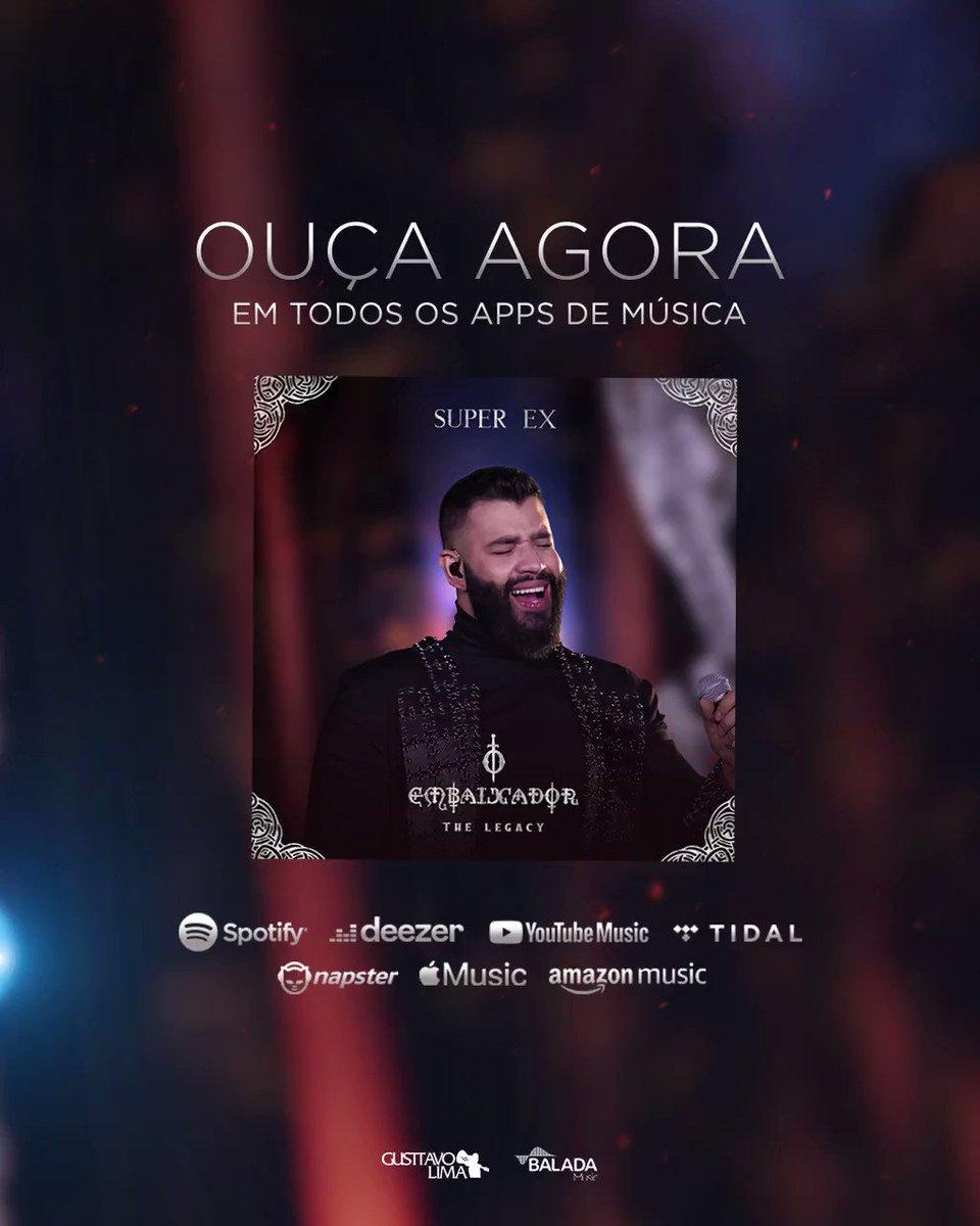 Vem ouvir #SuperEx, nova música do @GusttavoLima! Disponível em todas as plataformas de áudio. Acesse:   #SuperEx #OEmbaixadorTheLegacy
